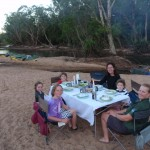 canoeing dinner table